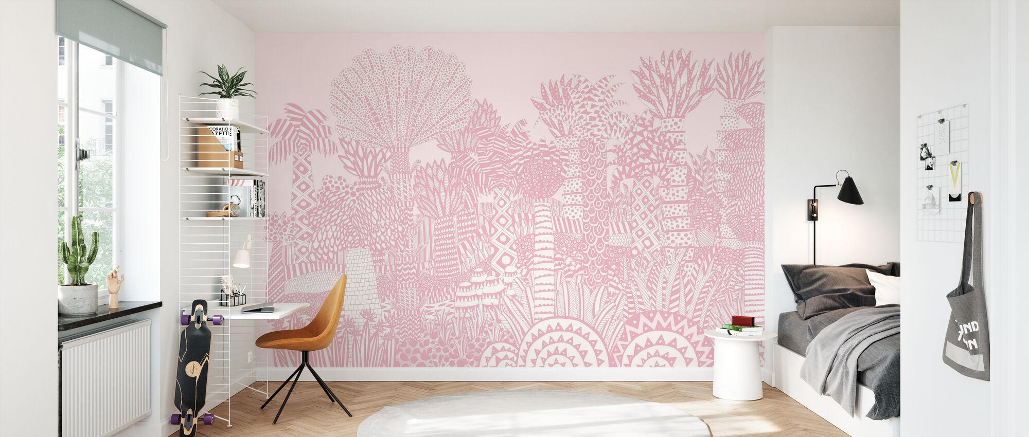 Jungle Pink - Wallpaper - Kids Room