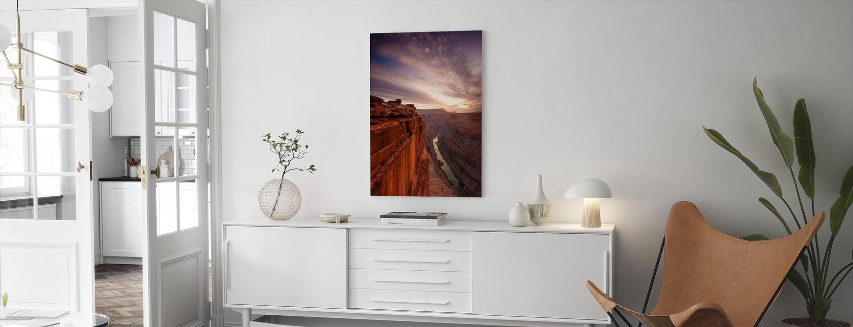 Grand Canyon Edge - Lerretsbilde - Stue