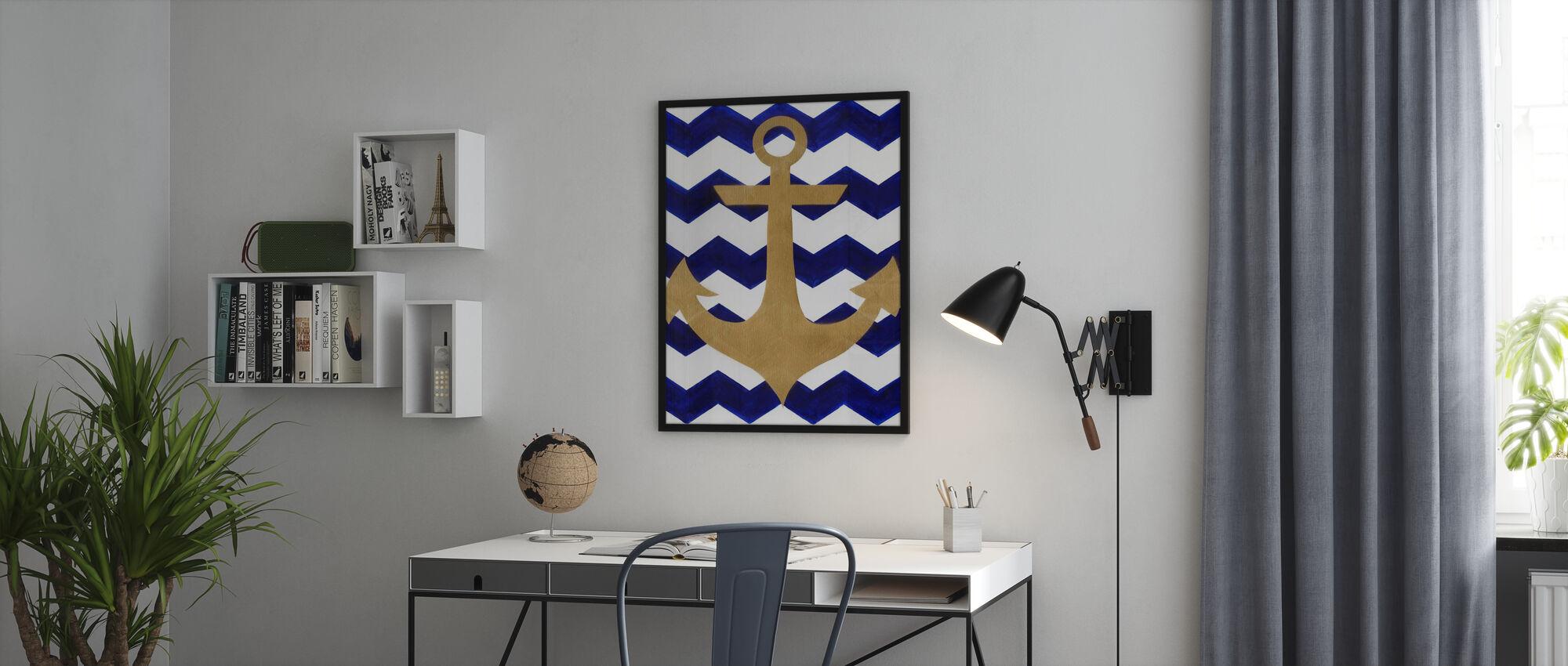 Chevron Anchor - Framed print - Office