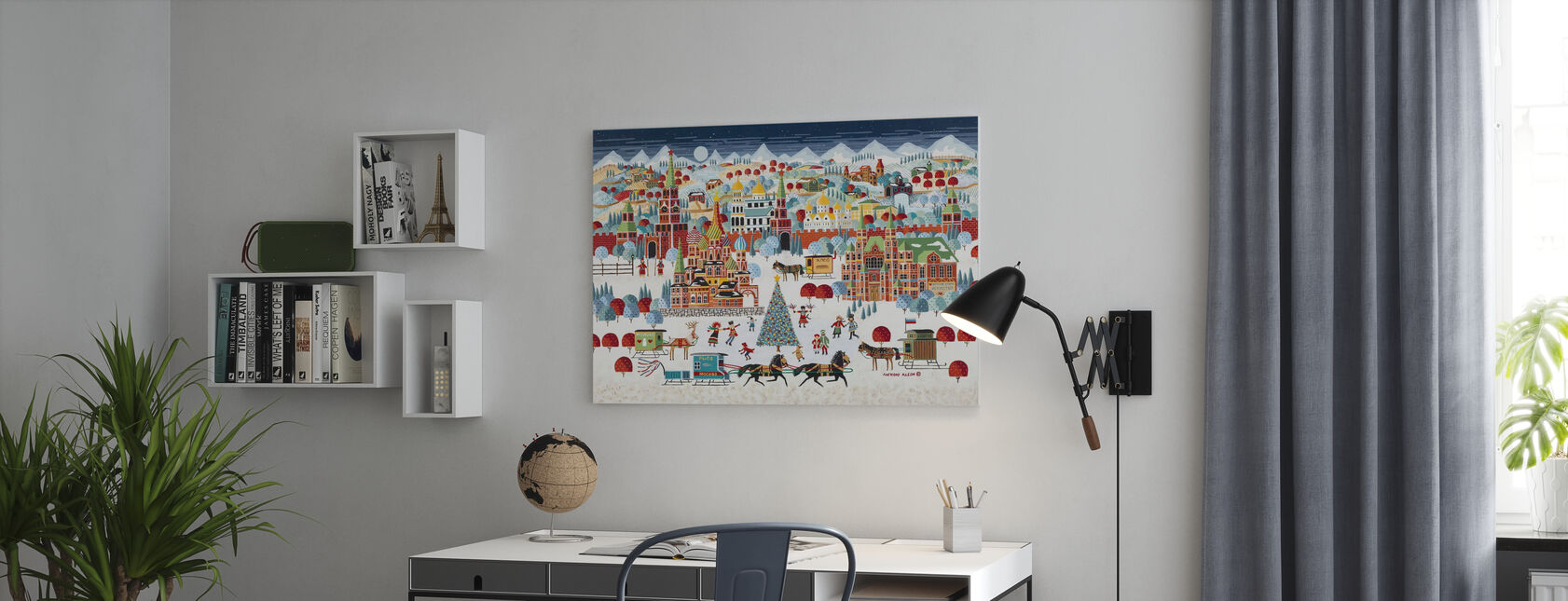 Moscow Christmas - Canvas print - Office