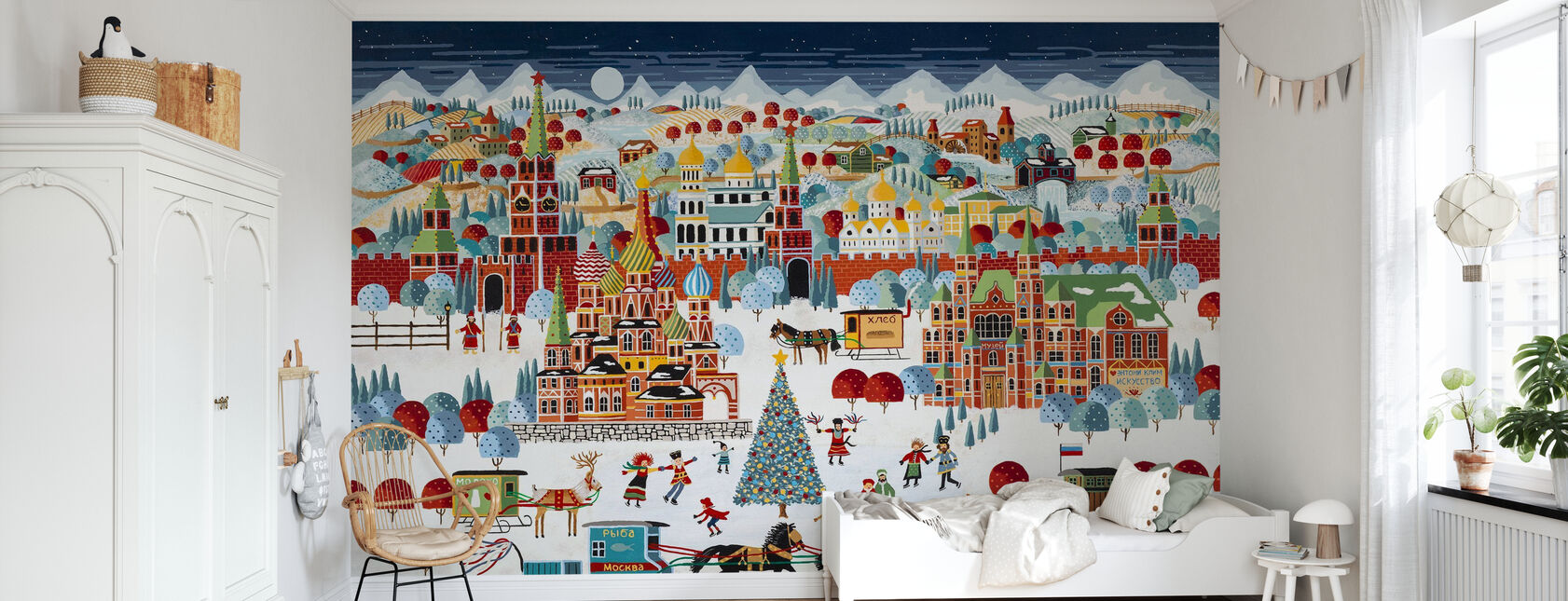 Moscow Christmas - Wallpaper - Kids Room