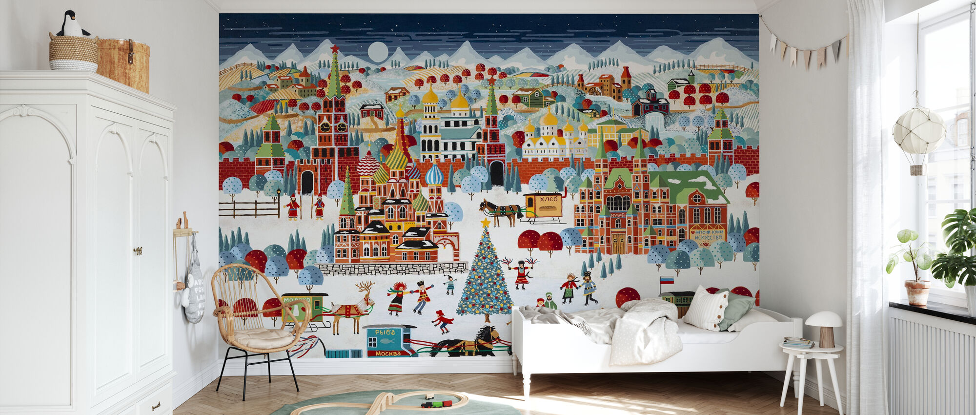 Moscow Christmas - Wallpaper - Kids Room