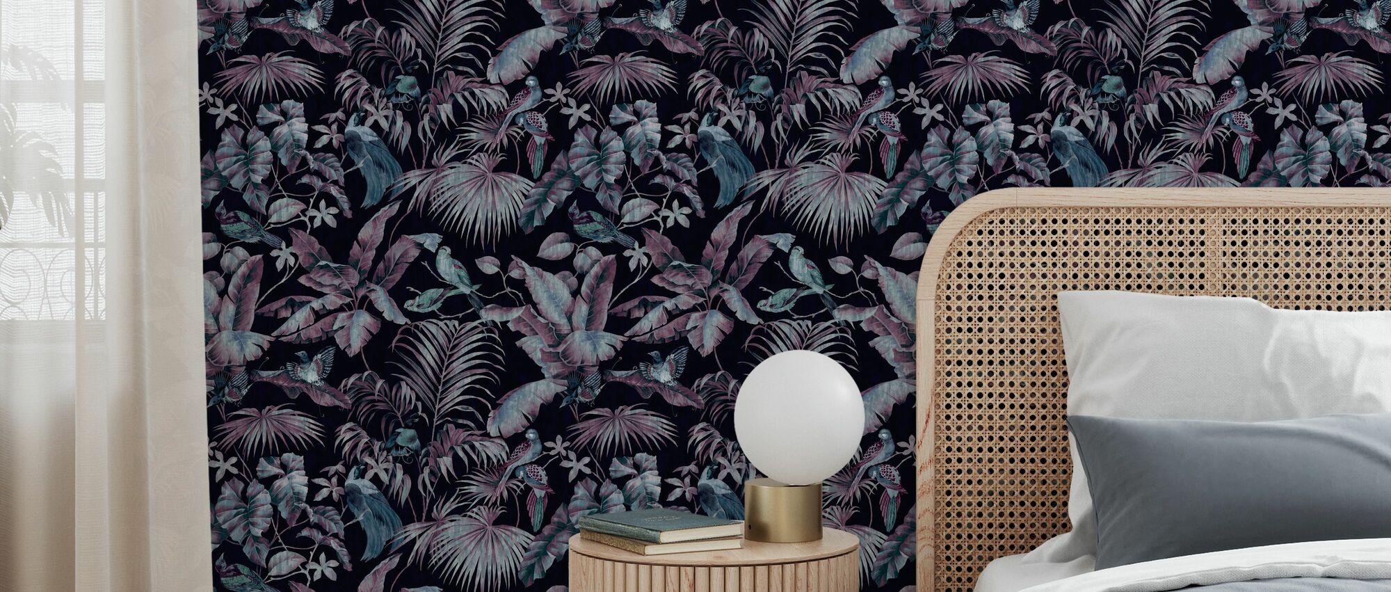 Jungle Canopy Midnight - Wallpaper - Bedroom