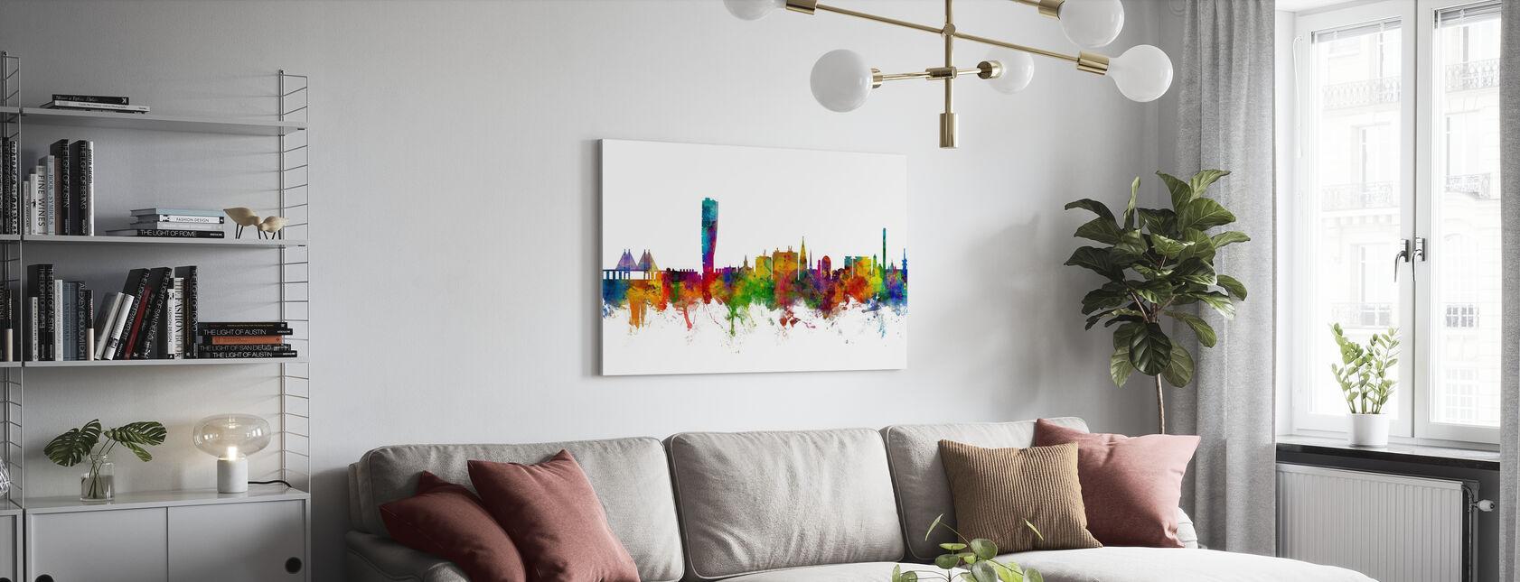 Malmö Skyline - Canvastavla - Vardagsrum
