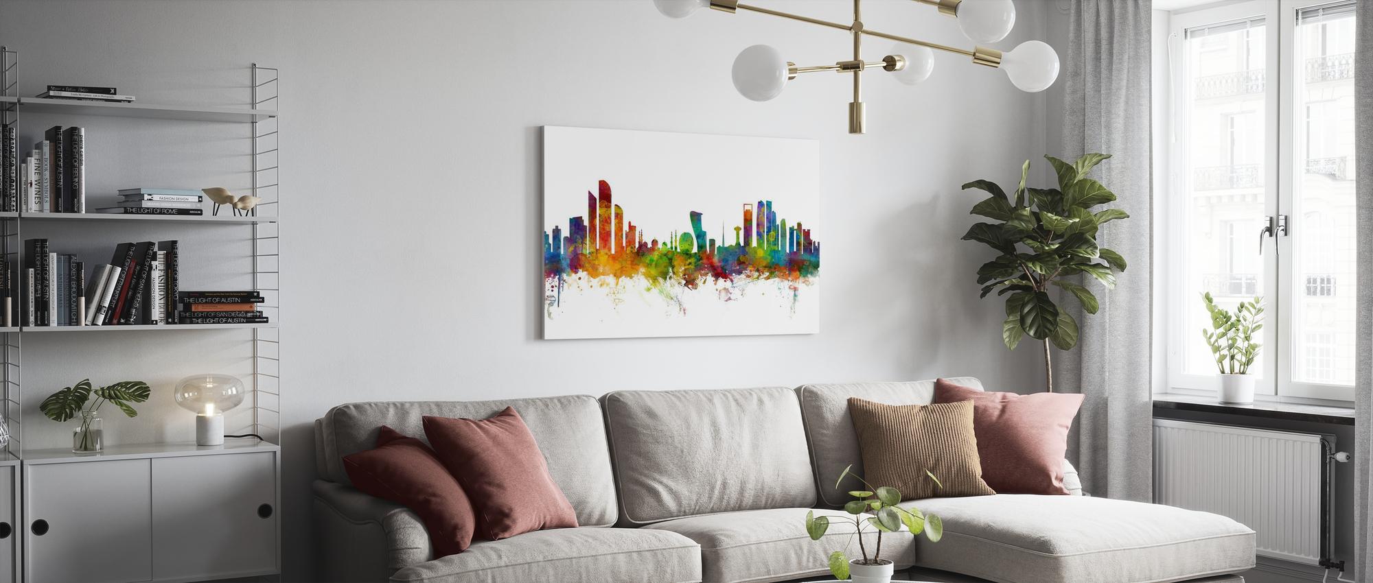 Leinwandbild Kunst-Druck 100x70 Bilder Straßen Abu Dhabi