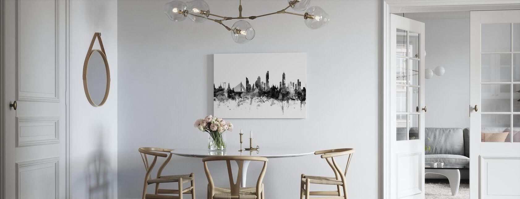 Bangkok Skyline Black - Canvas print - Kitchen