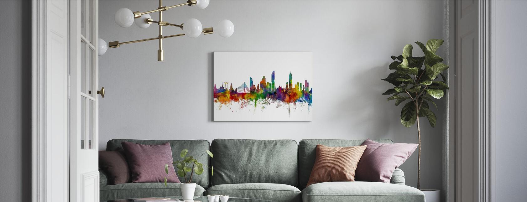 Bangkok Skyline - Leinwandbild - Wohnzimmer