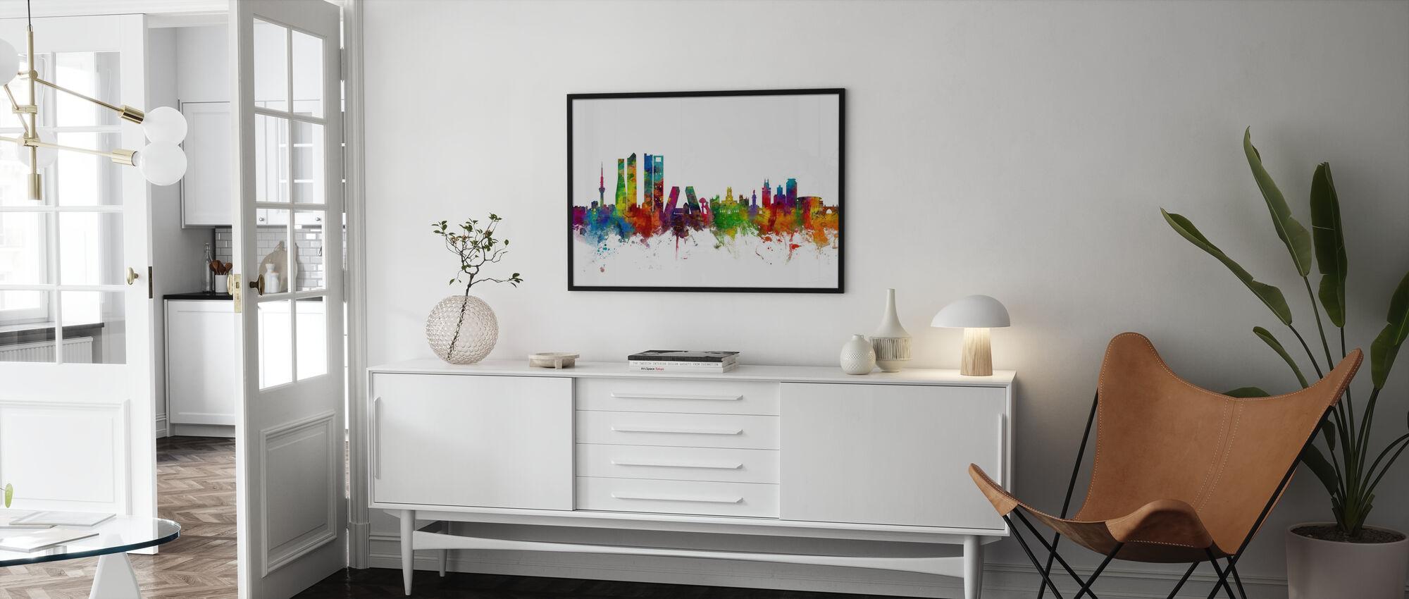 Madrids skyline - Inramad tavla - Vardagsrum