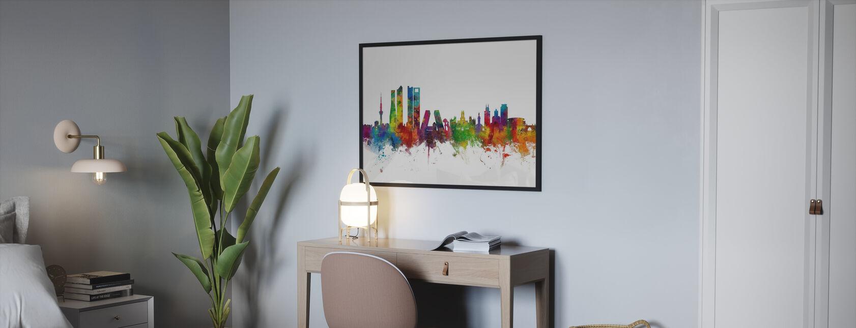 Skyline de Madrid - Póster - Dormitorio