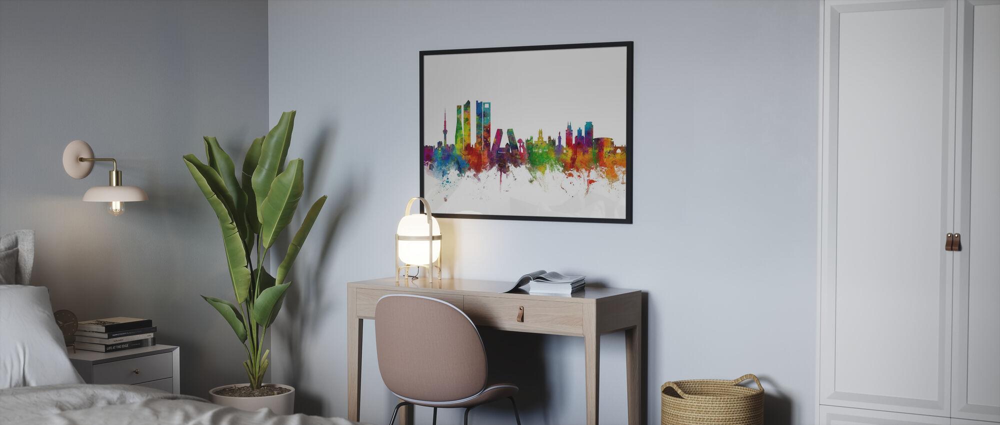 Skyline von Madrid - Poster - Schlafzimmer