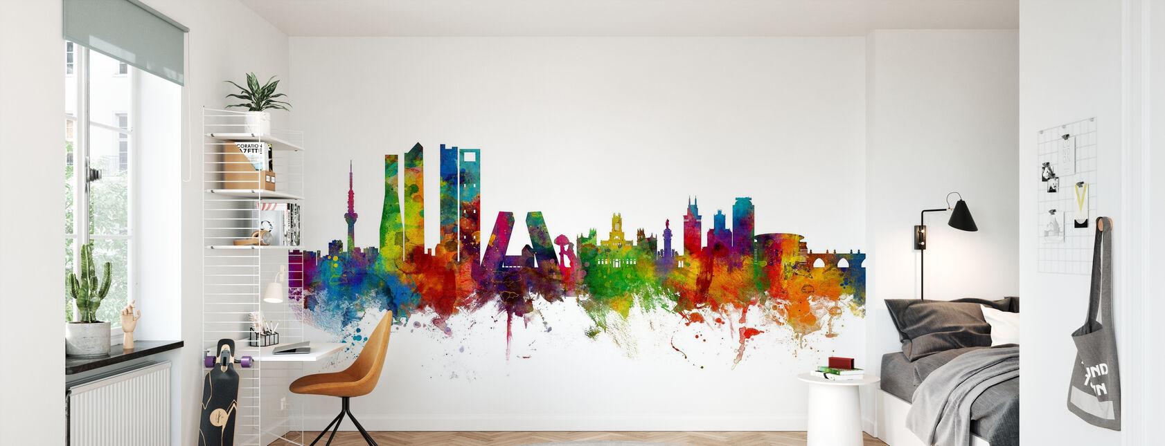 Skyline de Madrid - Papel pintado - Cuarto de niños