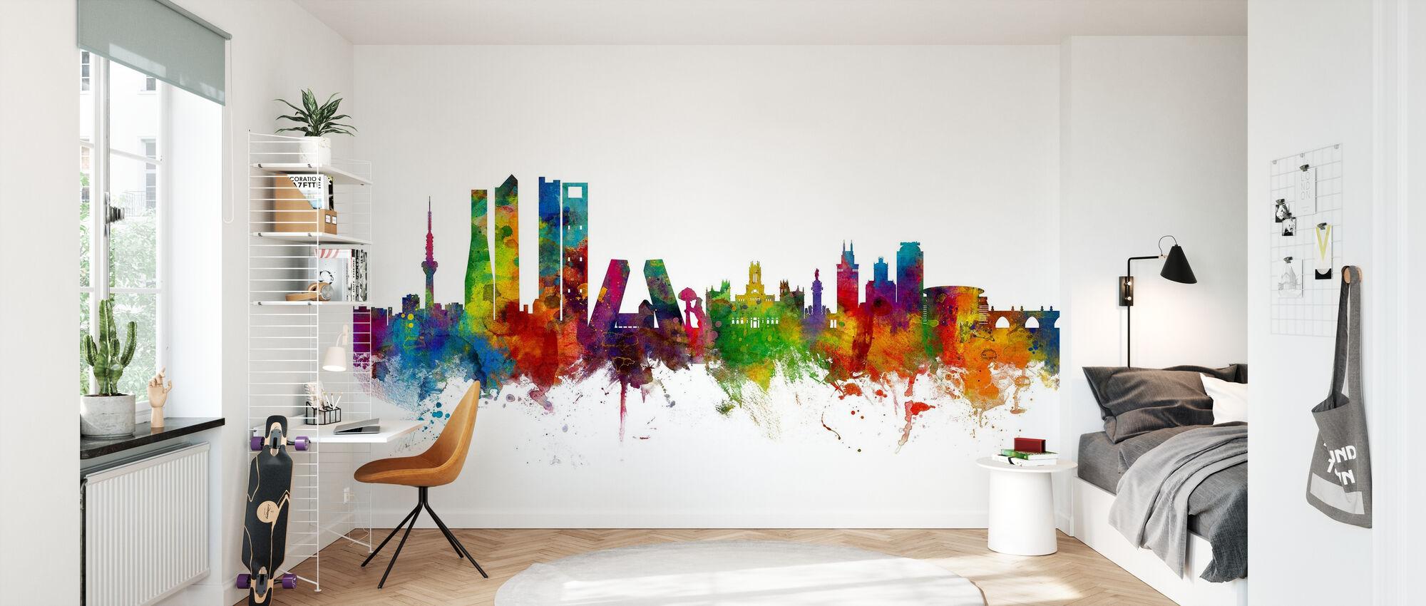 Madrid Skyline - Wallpaper - Kids Room