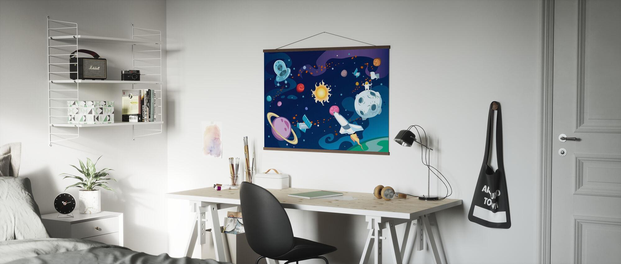 Cartoon Galaxy - Poster - Office