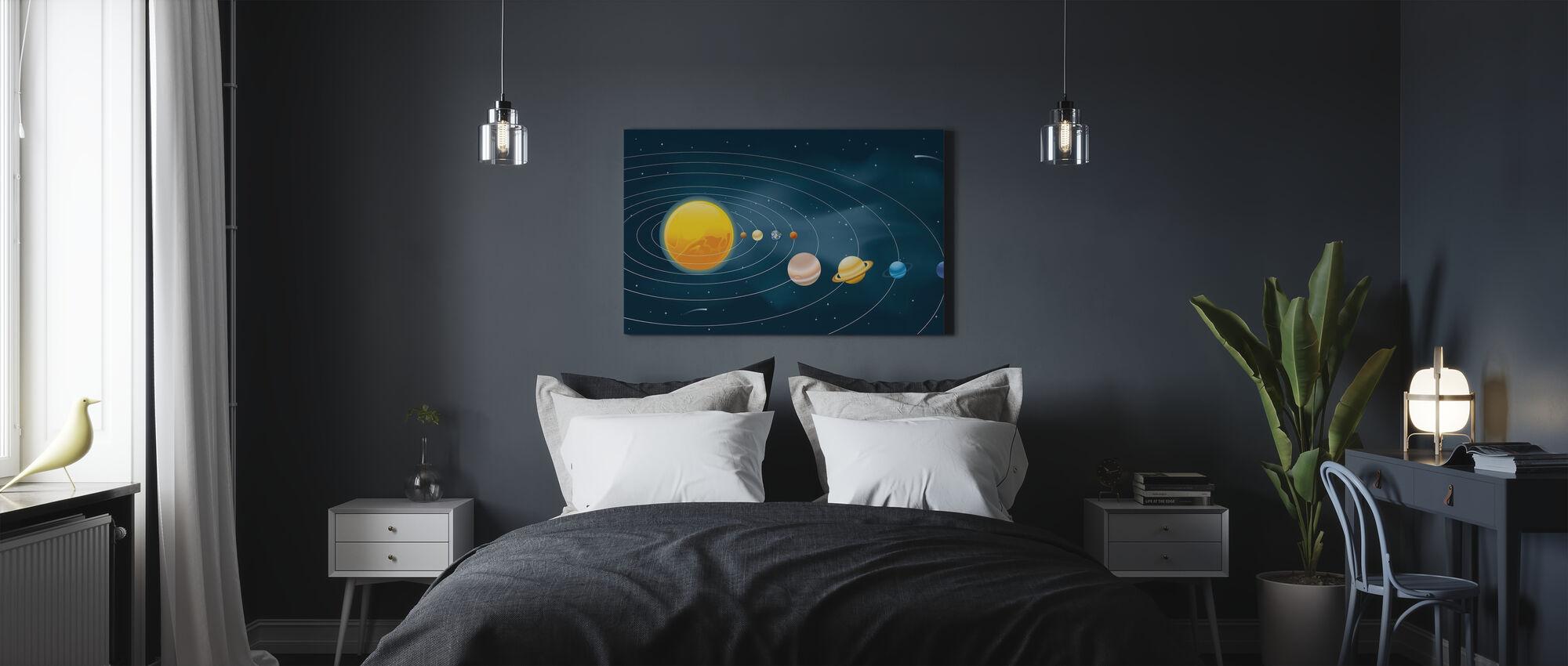 Earths Solar System - Canvas print - Bedroom