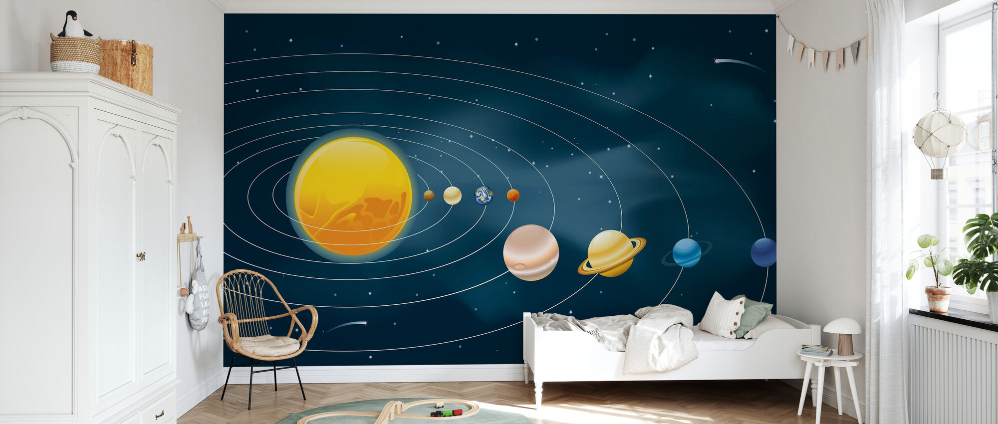 Earths Solar System - Wallpaper - Kids Room
