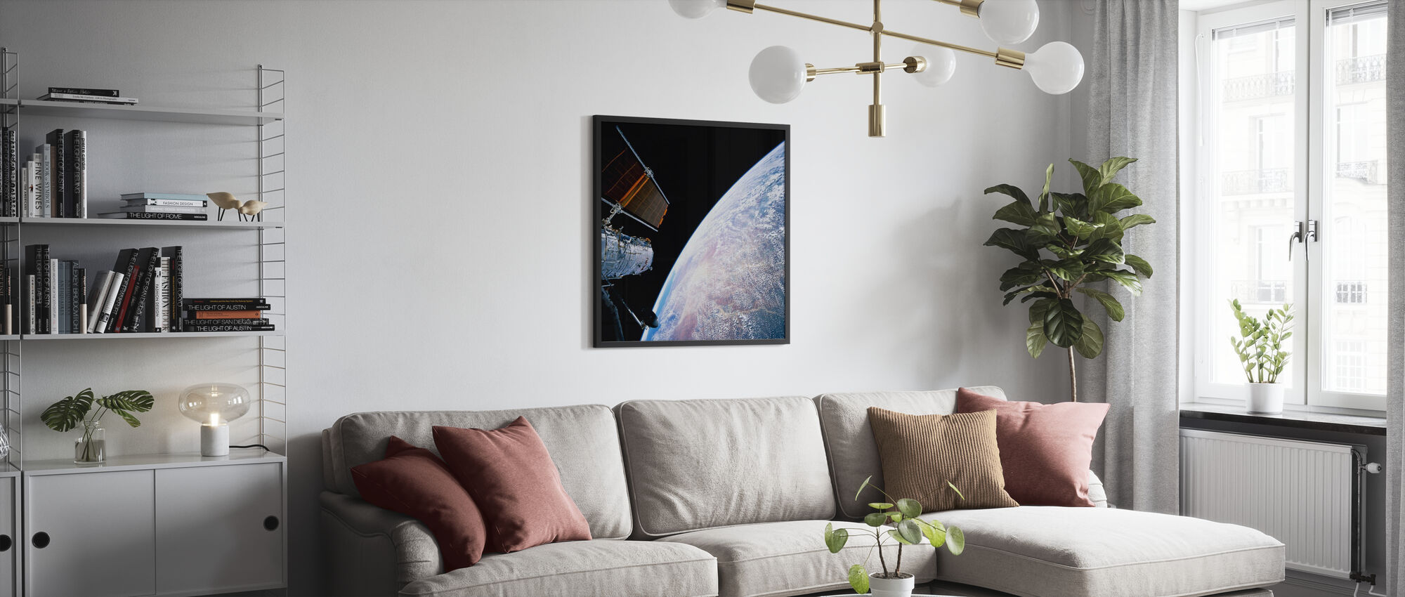 Hubble Space Telescope - Framed print - Living Room