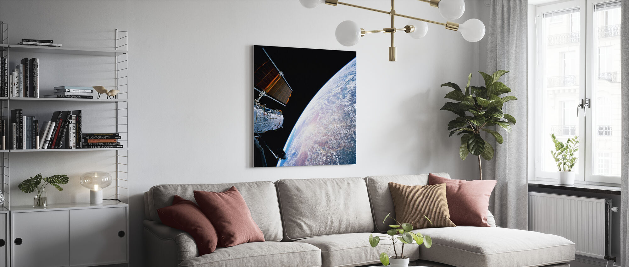 Hubble Space Telescope - Canvas print - Living Room