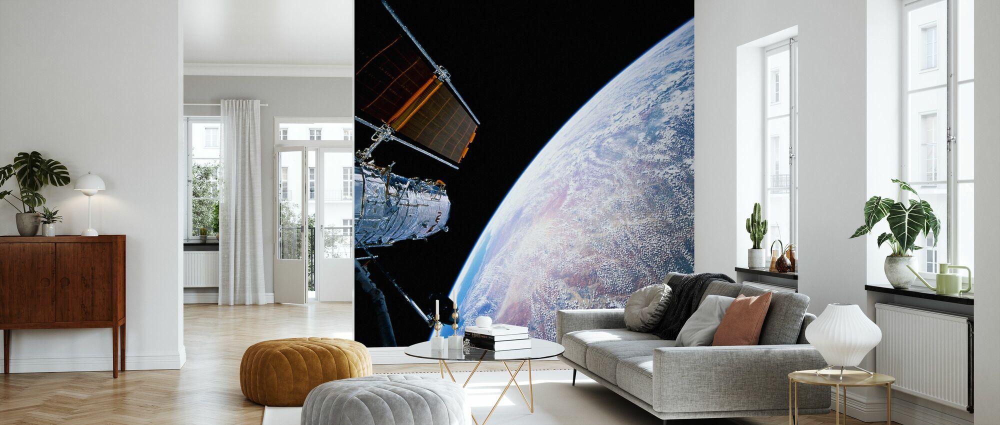 Rymdteleskopet Hubble - Tapet - Vardagsrum