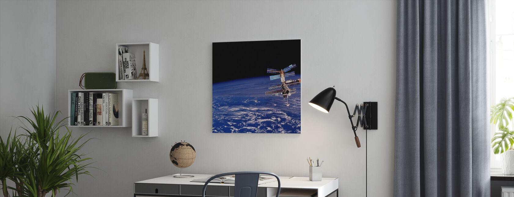 Mir rymdstation - Canvastavla - Kontor