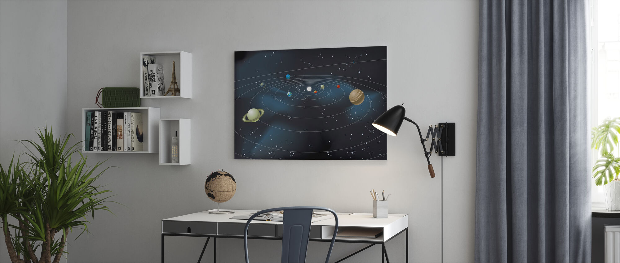 Planetary System - Canvas print - Office