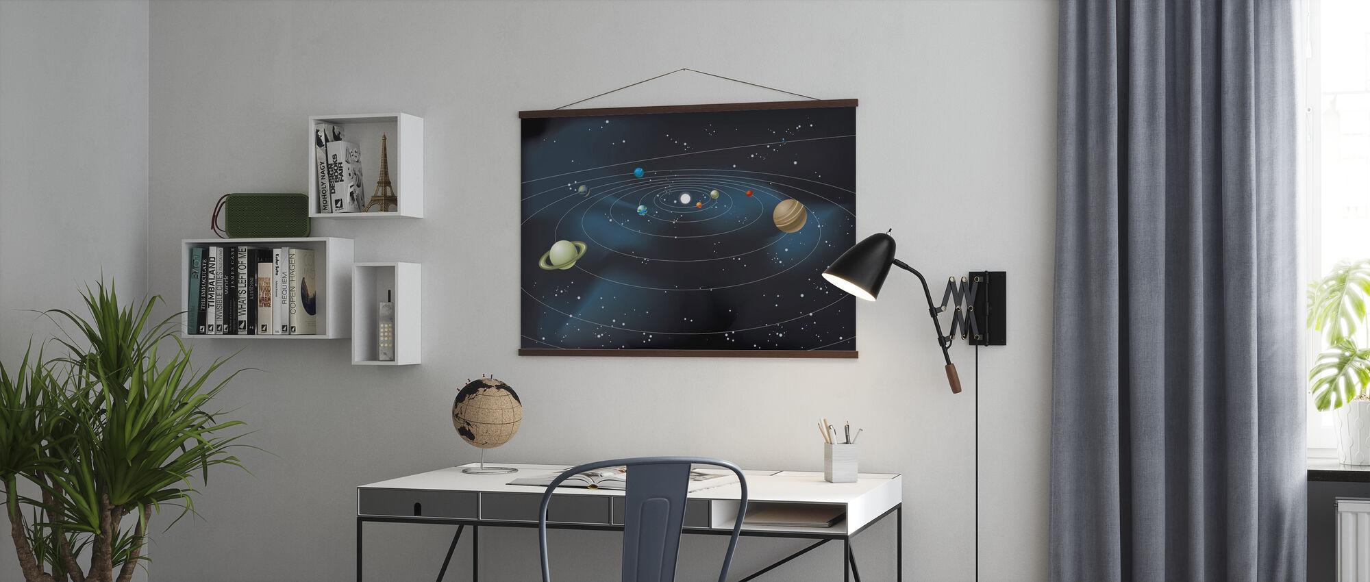 Planetarisches System - Poster - Büro