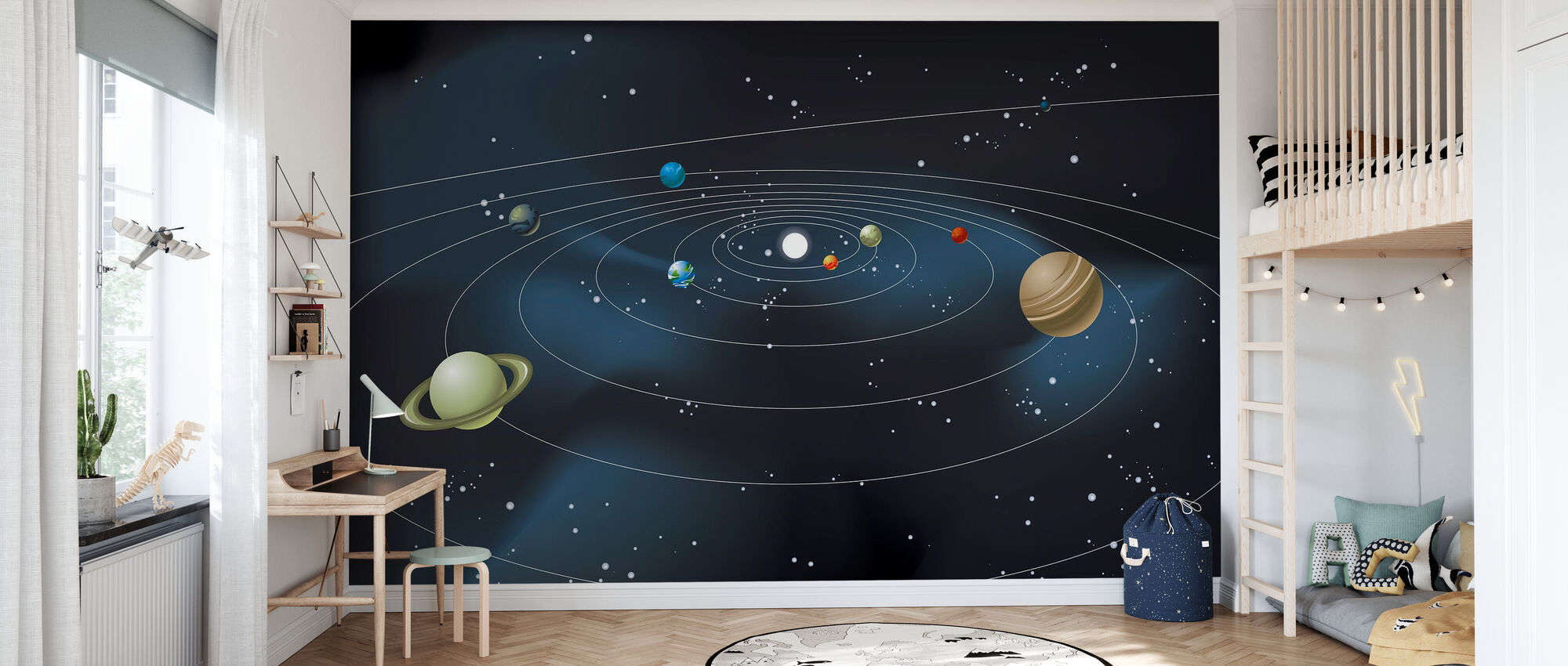 Planetary System - Wallpaper - Kids Room