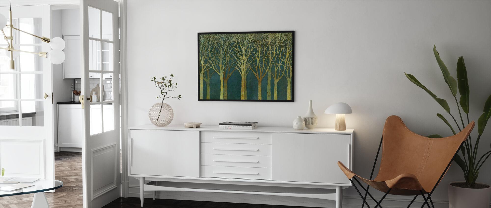 Birch Grove Golden Light - Poster - Living Room