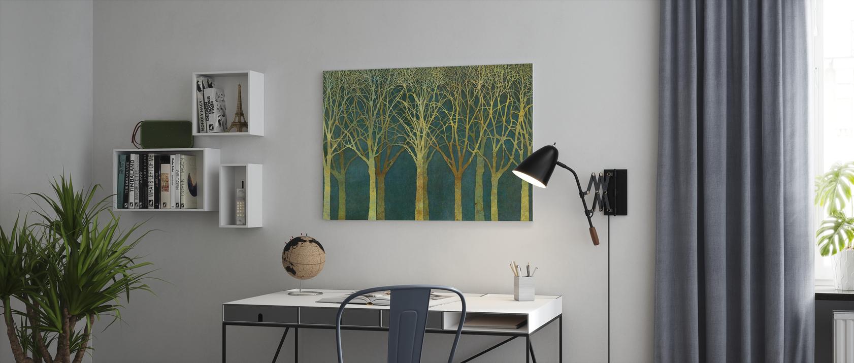 Fertig aufgespannt auf 4cm Holz-Keilrahmen Birkenwald Tolles Wandbild als Hintergrund und Deko f/ür Wohnzimmer /& Schlafzimmer als 90x60cm gro/ße XXL Leinwand EIN Atemberaubendes Bild