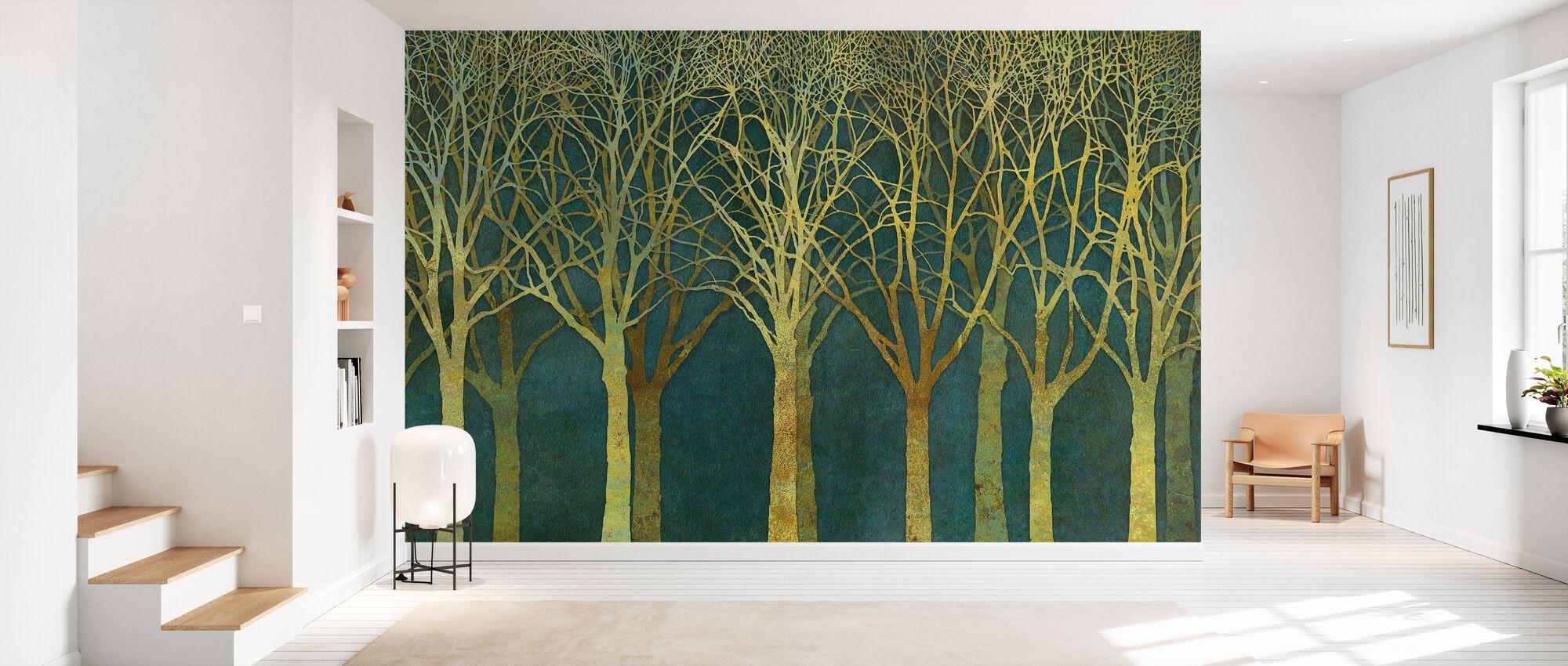 Birch Grove Golden Light - Wallpaper - Hallway