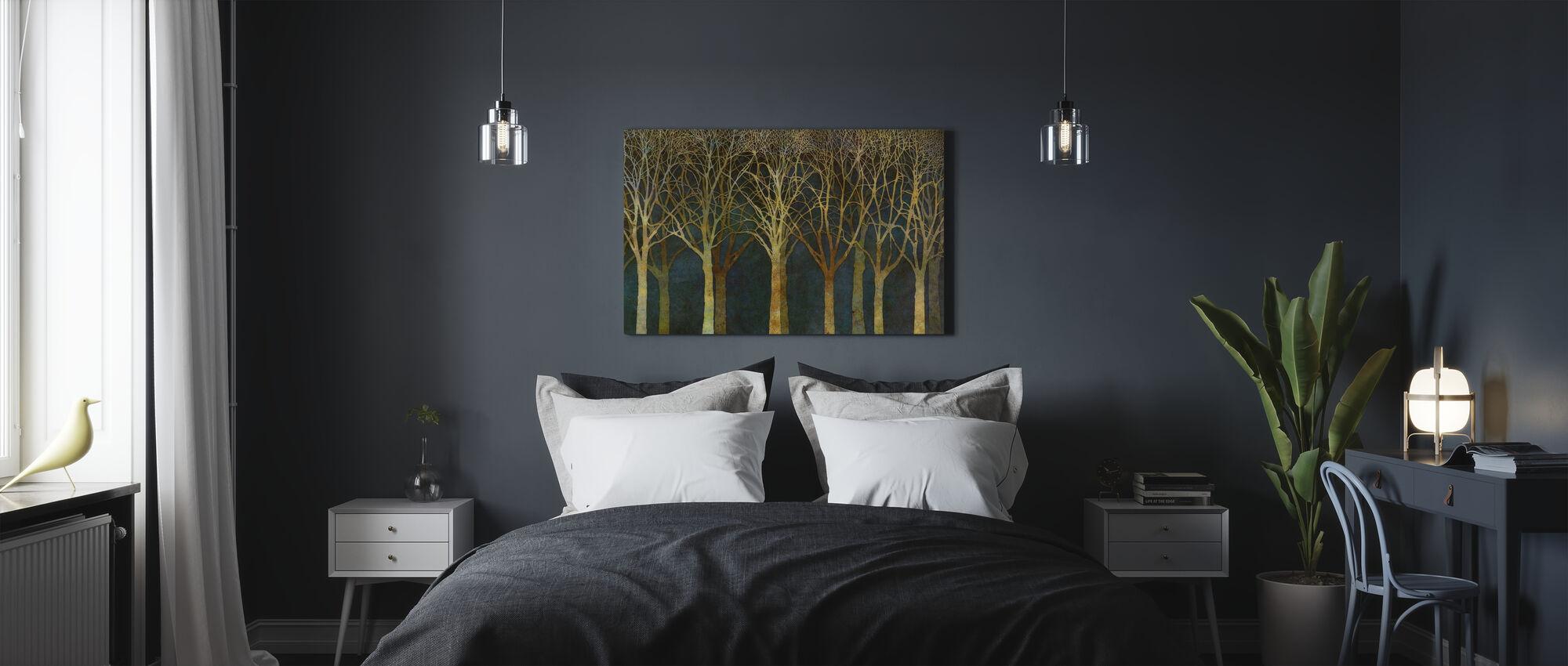 Berken Grove Maanlicht - Canvas print - Slaapkamer