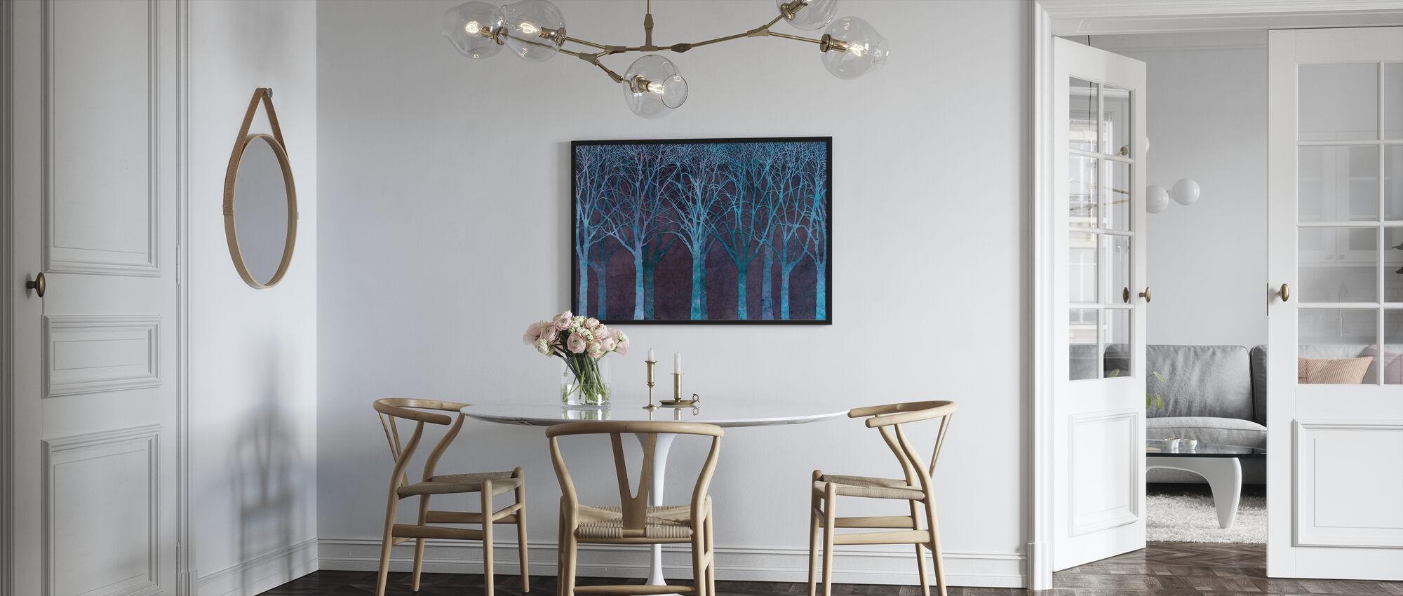 Birch Grove Night Blue - Poster - Kitchen