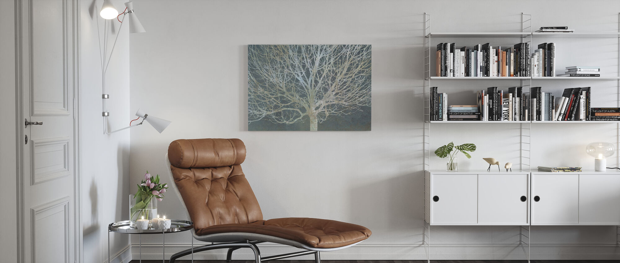 Silverträd - Canvastavla - Vardagsrum