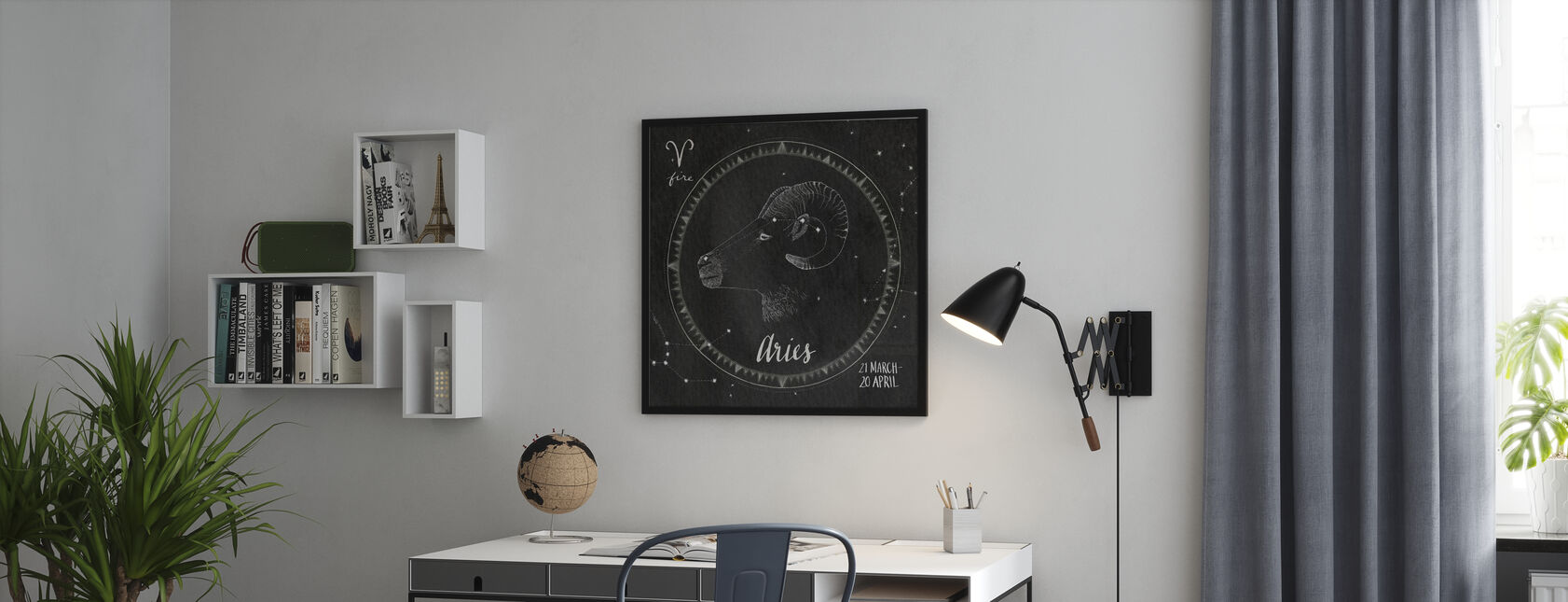 Night Sky Aires - Framed print - Office