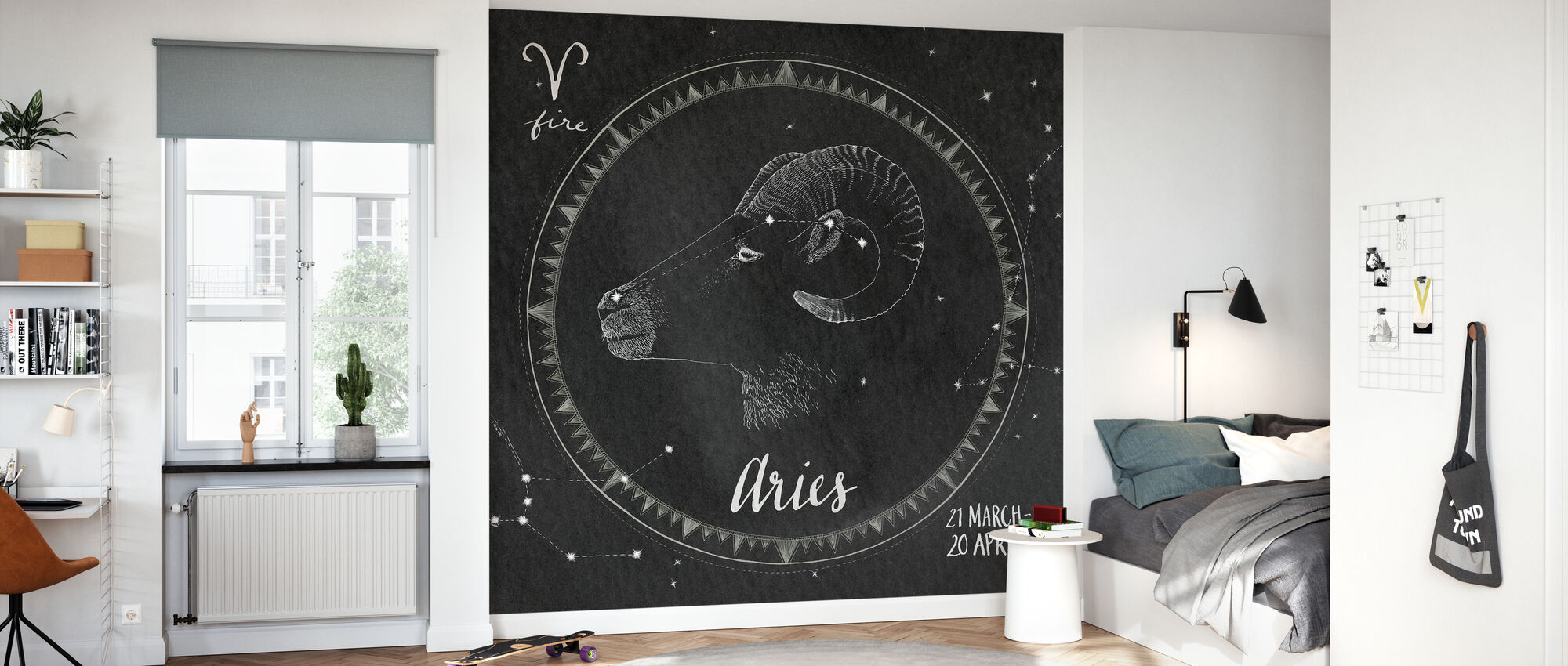 Night Sky Aires - Wallpaper - Kids Room