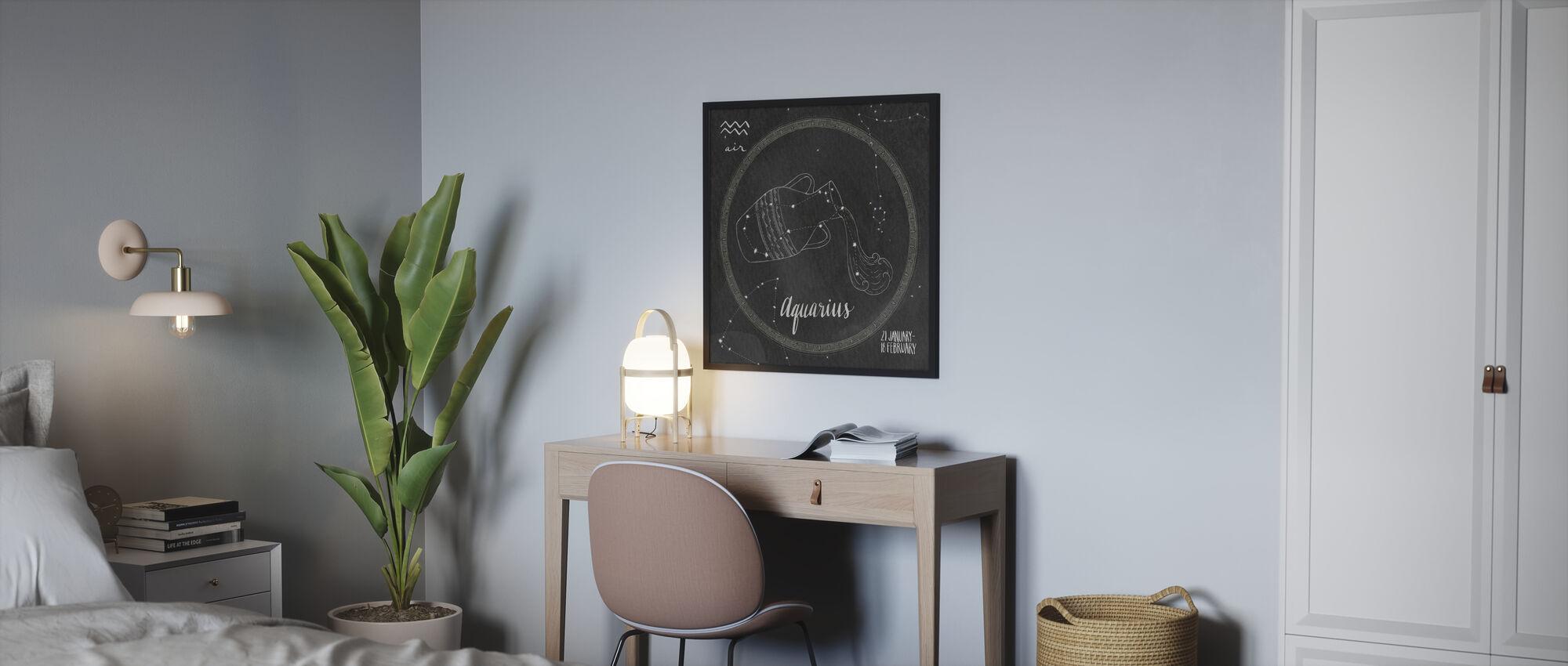 Nattehimmelen Vannmannen - Innrammet bilde - Soverom