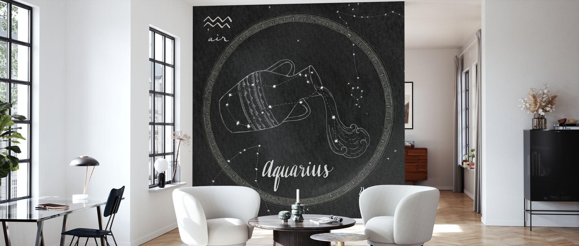 Night Sky Aquarius - Wallpaper - Living Room