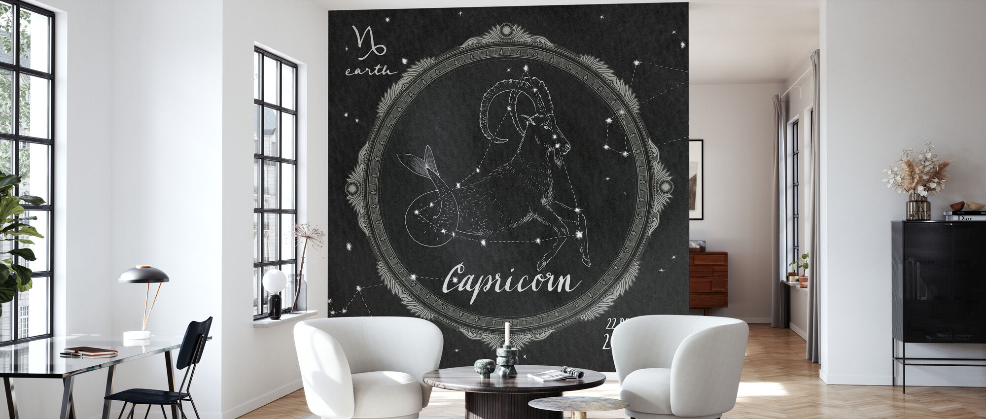 Night Sky Capricorn - Wallpaper - Living Room