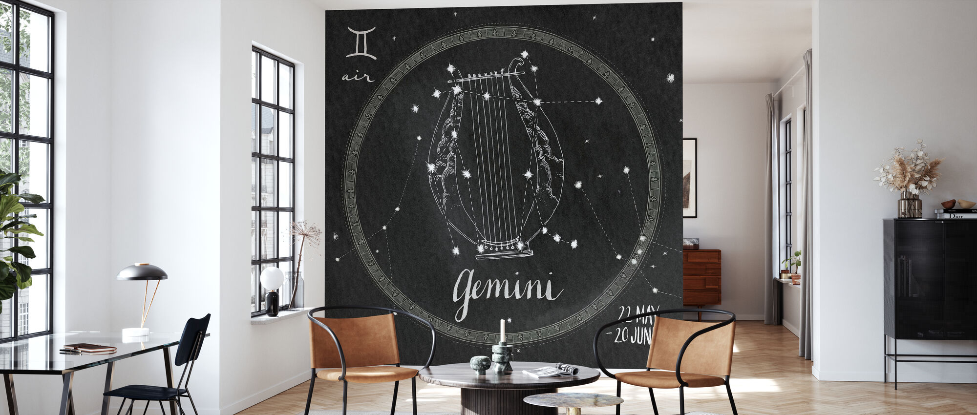 Night Sky Gemini - Wallpaper - Living Room