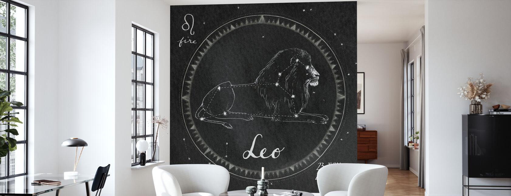 Nachthimmel Löwe - Tapete - Wohnzimmer