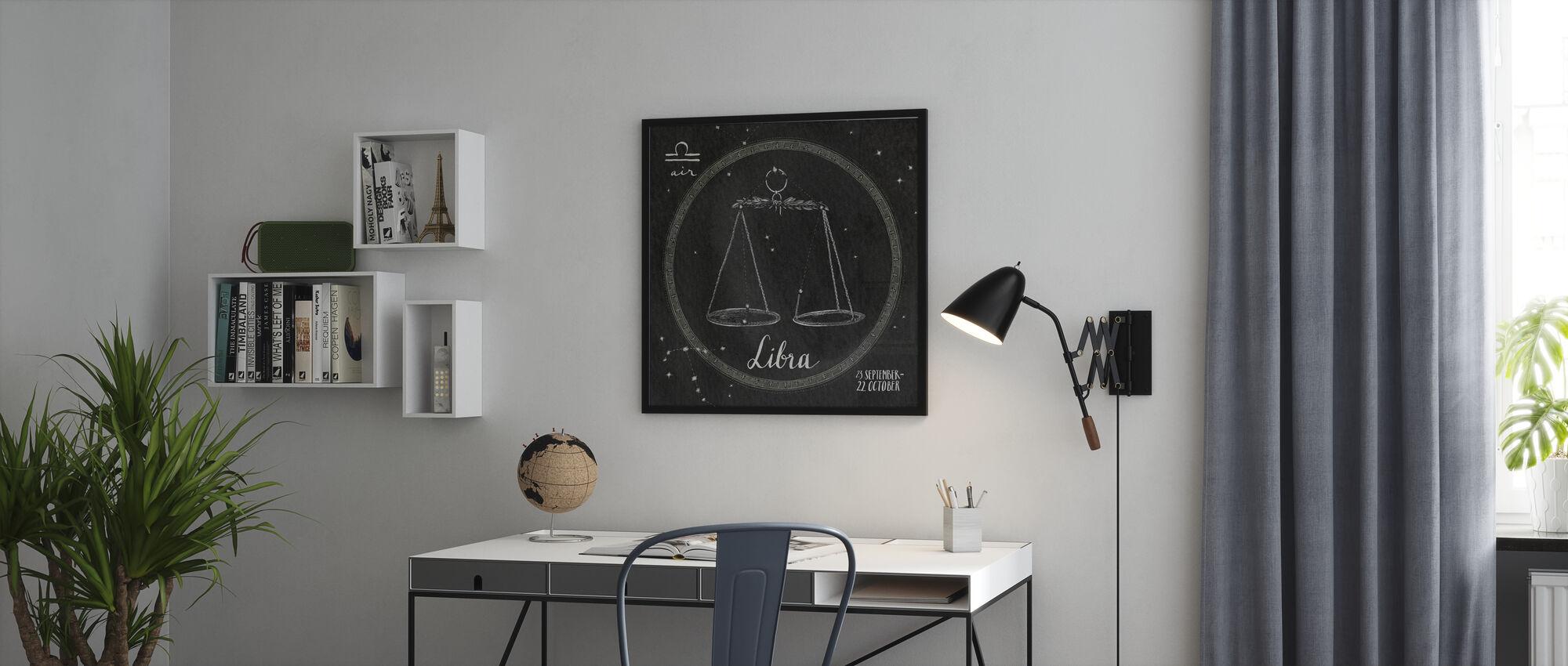 natt himmel Libra - Innrammet bilde - Kontor