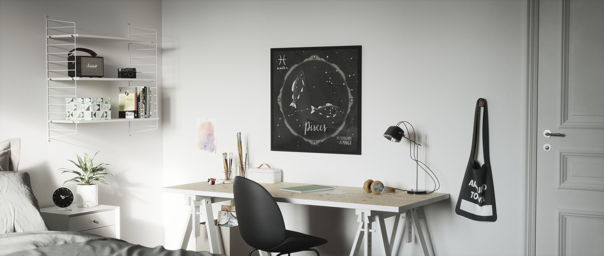 Night Sky Pisces - Framed print - Kids Room