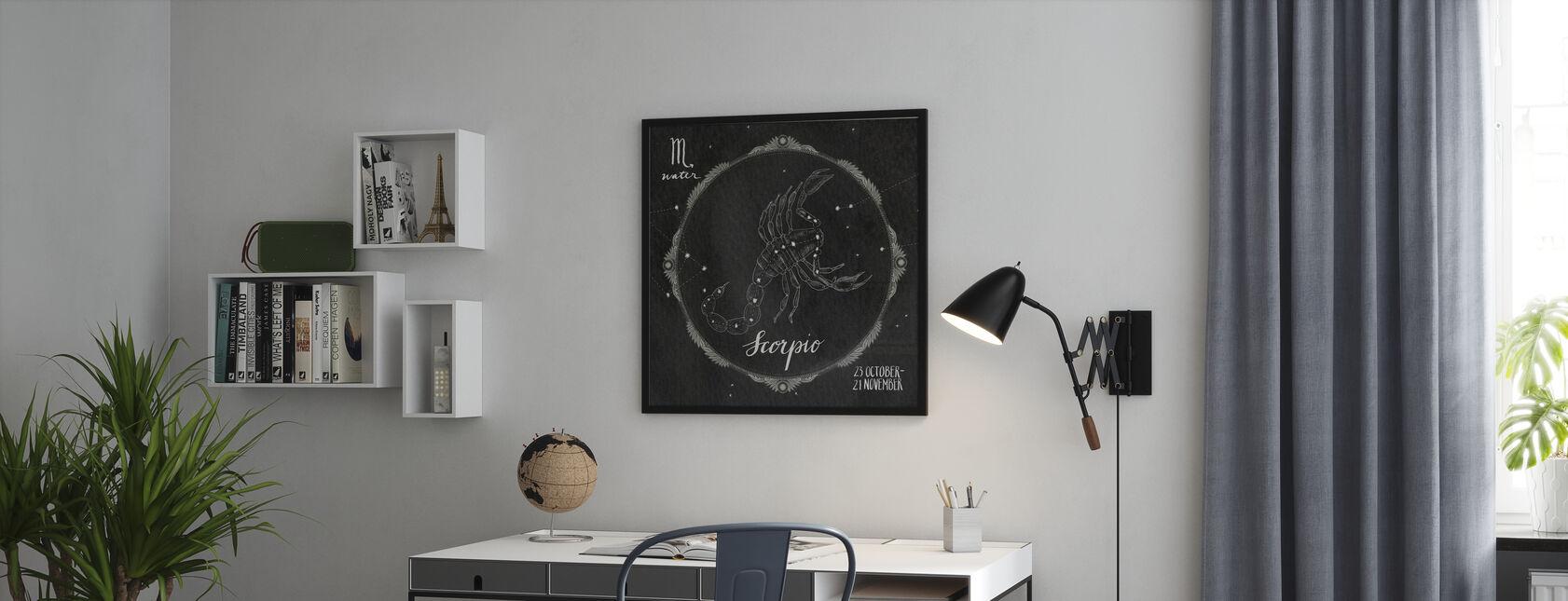 Nacht Sky Schorpioen - Ingelijste print - Kantoor