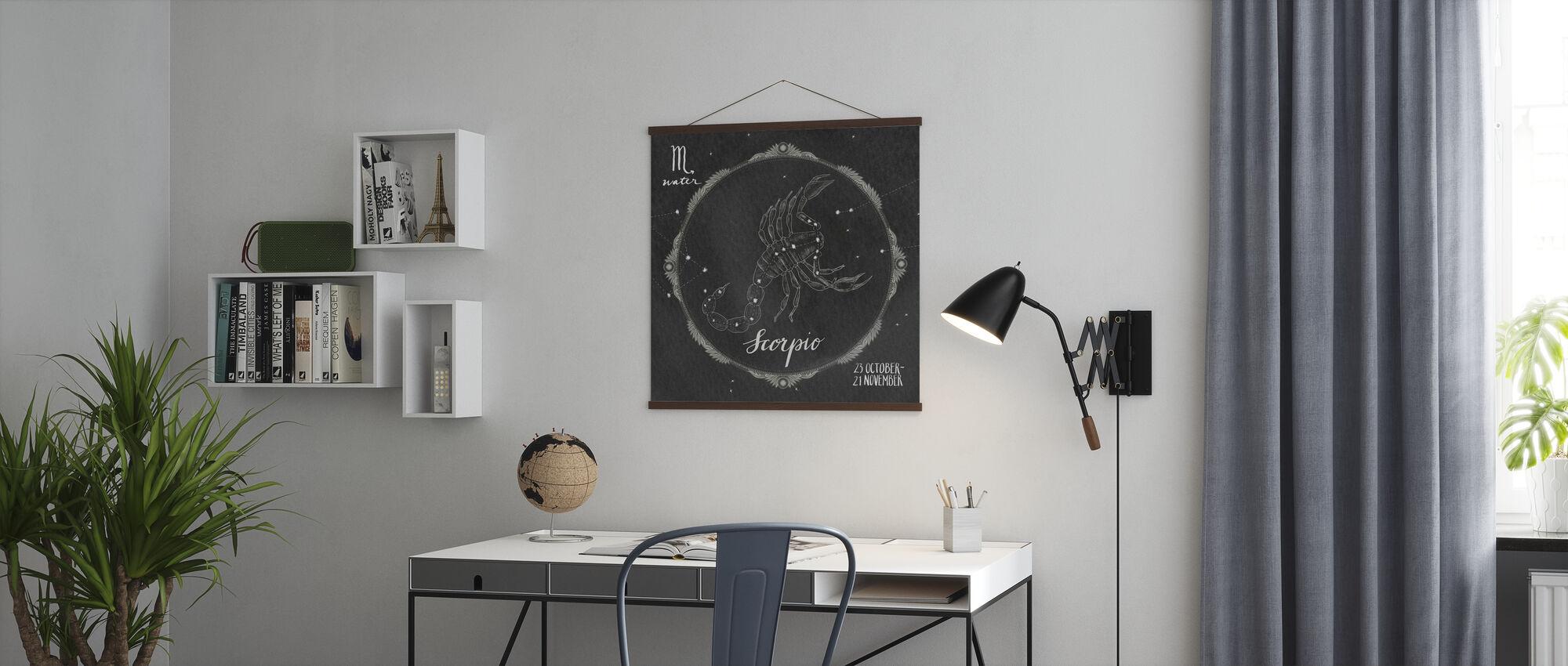 Nachthimmel Skorpion - Poster - Büro