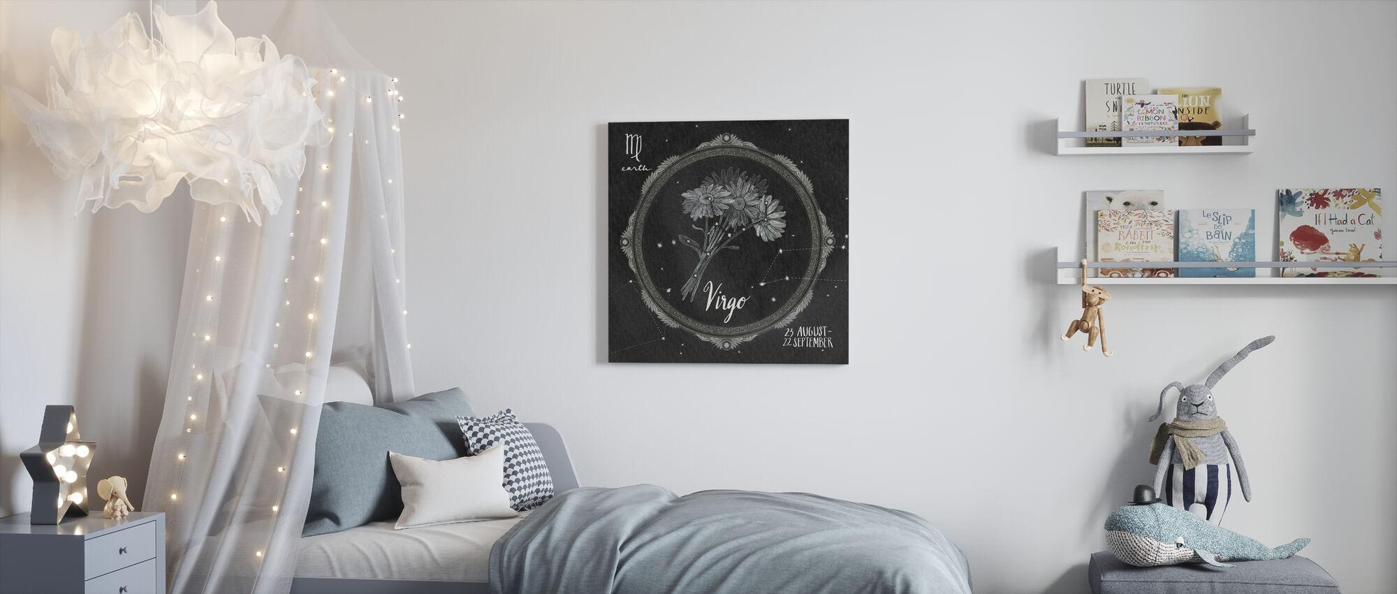 Night Sky Virgo - Canvas print - Kids Room