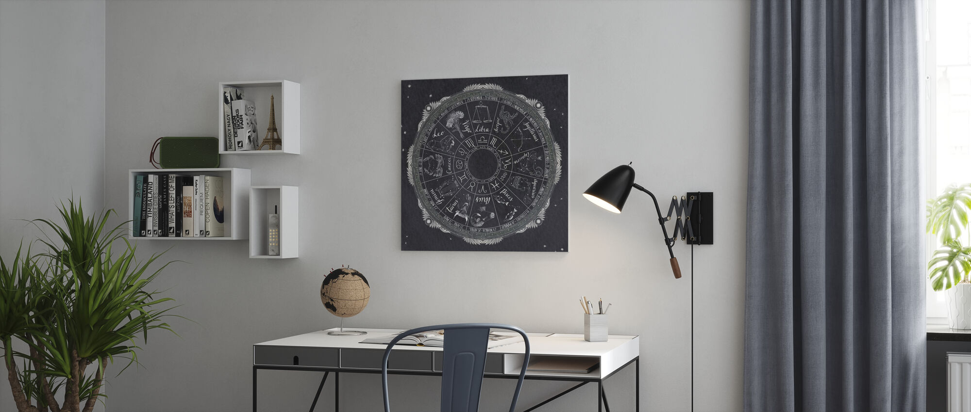Night Sky Zodiac - Canvas print - Office