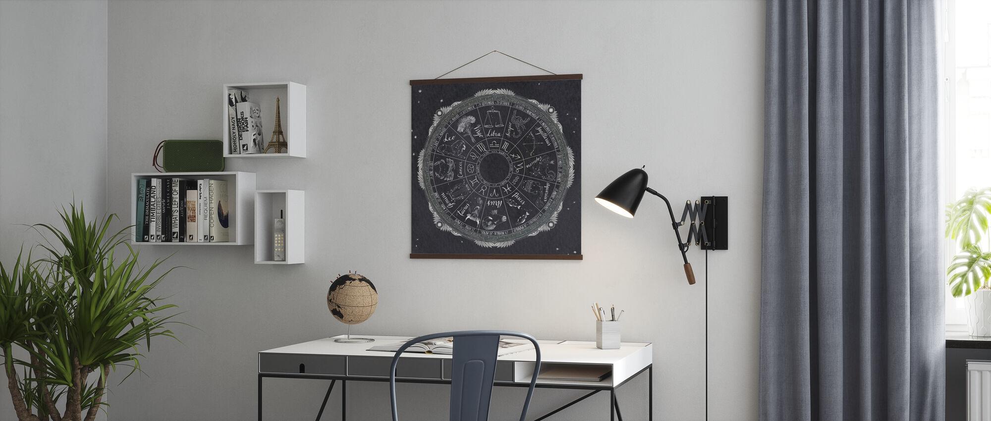 Night Sky Zodiac - Poster - Office