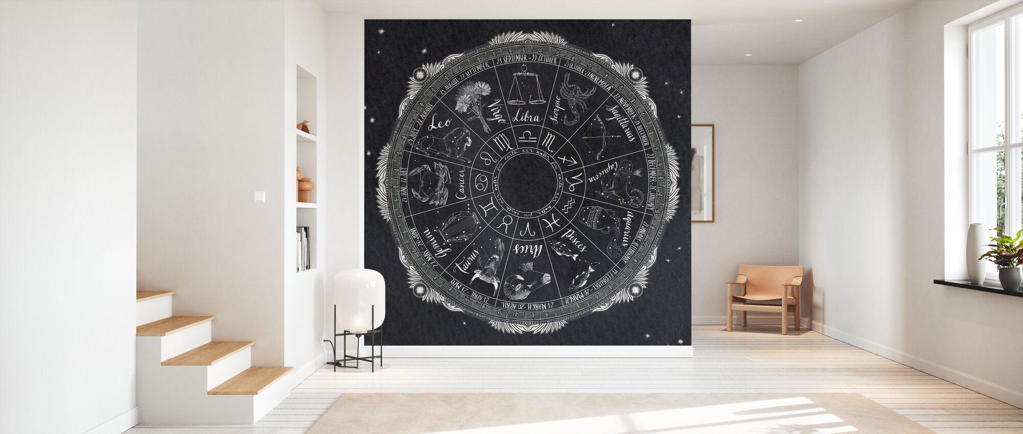 Night Sky Zodiac - Wallpaper - Hallway