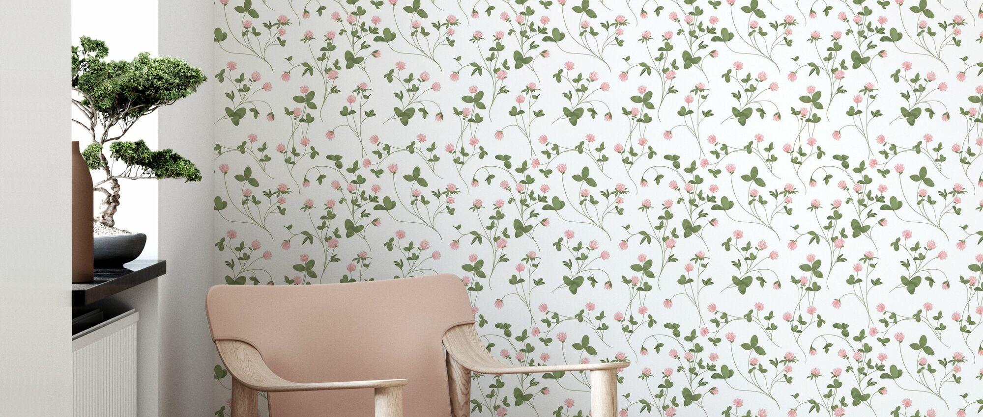Clover White - Wallpaper - Living Room
