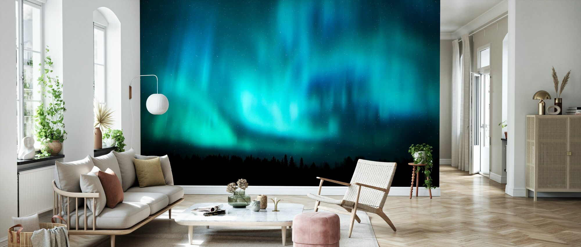 Northern Lights - Wallpaper - Living Room