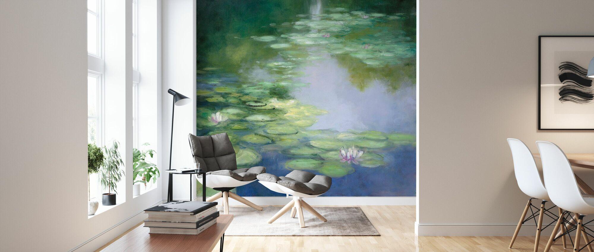 Blue Lily I - Wallpaper - Living Room